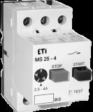 Автоматичні вимикачі захисту двигунів MS